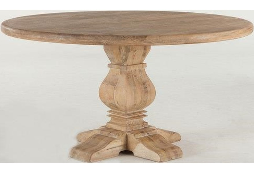 Home Trends Design San Rafael Htd Fsr Rd54ao T San Rafael 54 Round Dining Table Hudson S Furniture Dining Tables