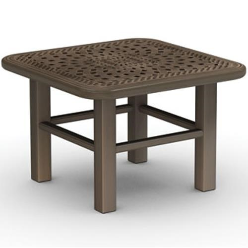 Homecrest Camden Cast Cast Aluminum End Table With Intricate Design    Becker Furniture World   Outdoor End Table