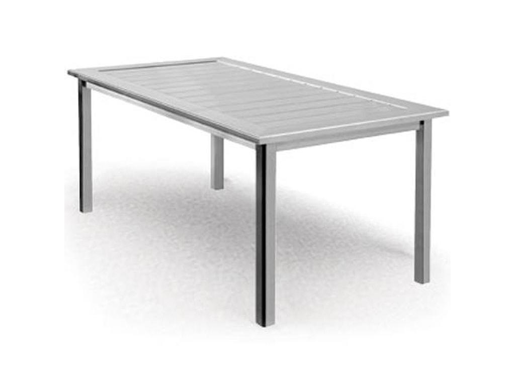 Homecrest Dockside SlatRectangular Balcony Table