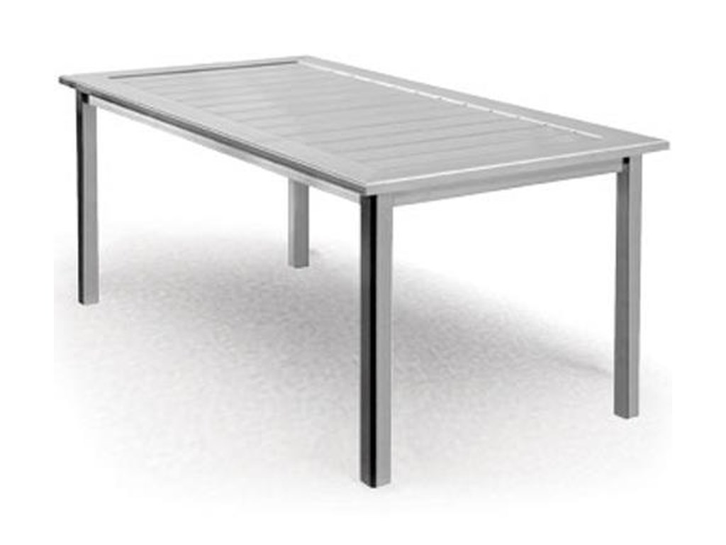 Homecrest Dockside SlatRectangular BalconyTable