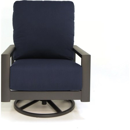 High Back Swivel Rocker Chat Chair