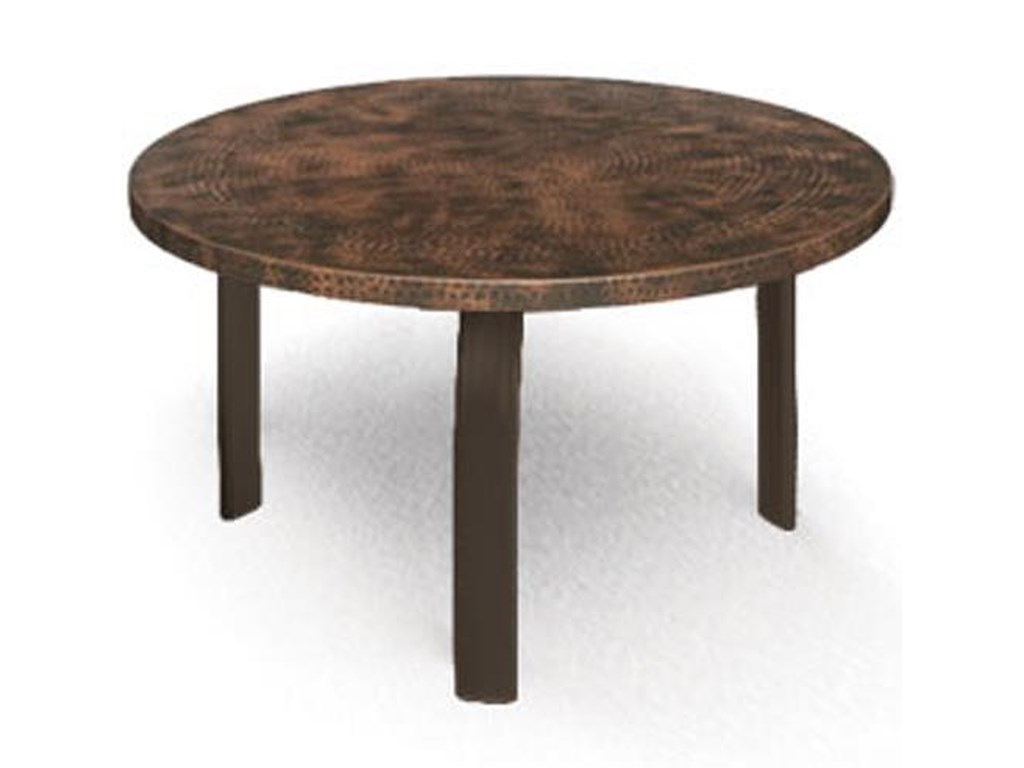 Homecrest Hammered Metal 3724rmh 24 Round Side Table With Curved