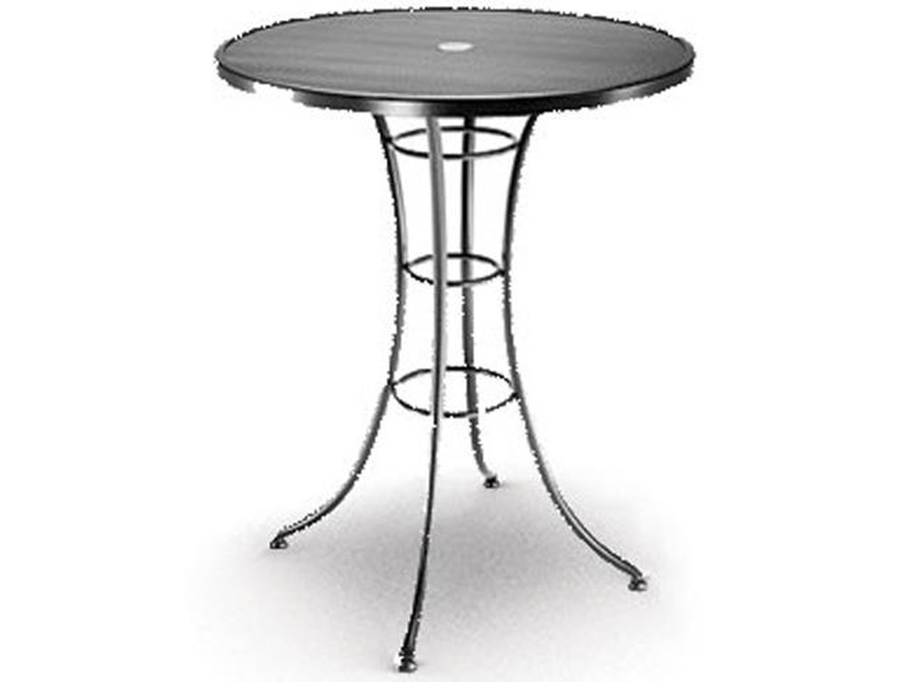 Mesh 36 Bar Table With Umbrella Hole By Homecrest