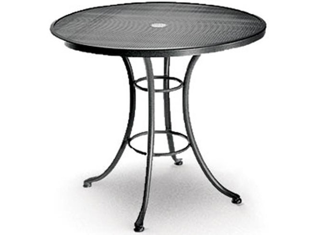 Umbrella Hole By Homecrest Home Outdoor Bistro Table Mesh 36 Cafe Mesh36