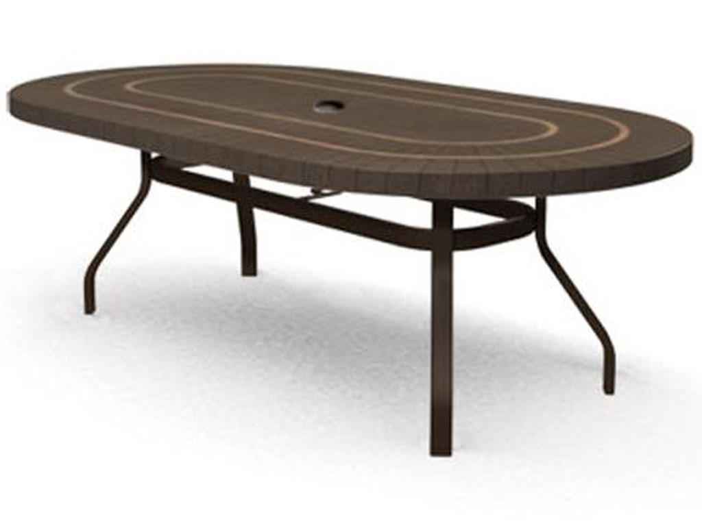 Homecrest Sorrento44x 84 Outdoor Oval Balcony Table