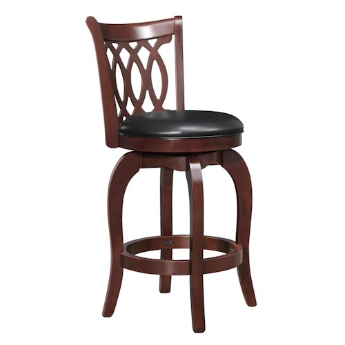 Homelegance 1133 Marcella Counter Height Stool with Swiveling Seat