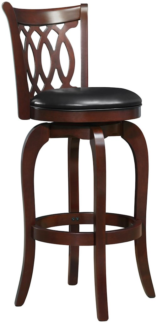 Homelegance 1133 Marcella Bar Height Stool with Swiveling Seat