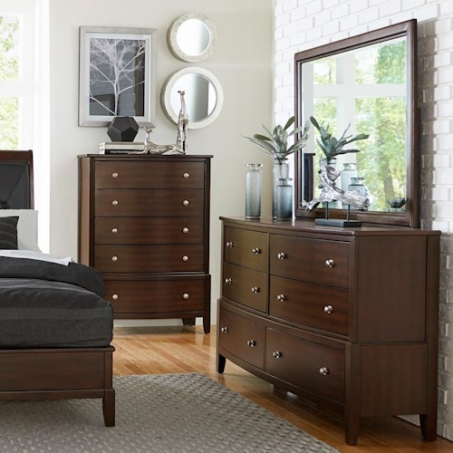 Homelegance (Clackamas Only) 1730 Contemporary Dresser and Mirror set