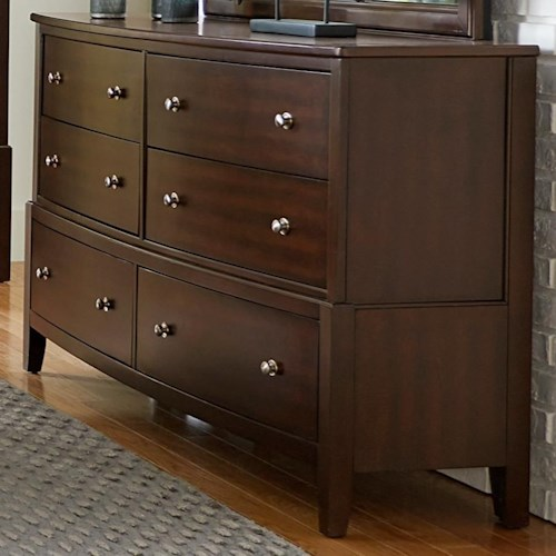Homelegance (Clackamas Only) 1730 Contemporary Dresser with 6 Drawers