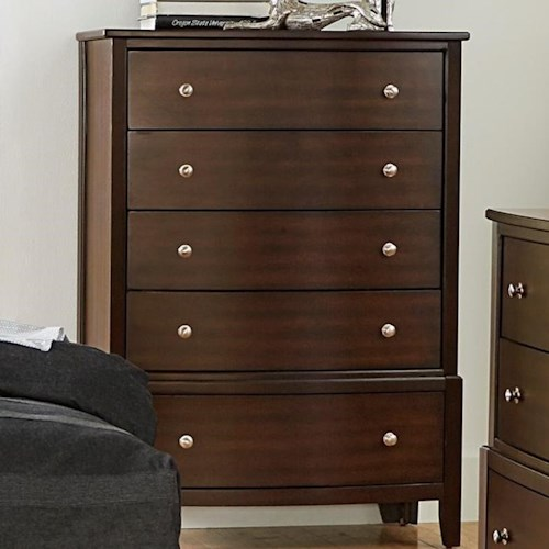 Homelegance Cotterill Contemporary Chest with 5 Drawers