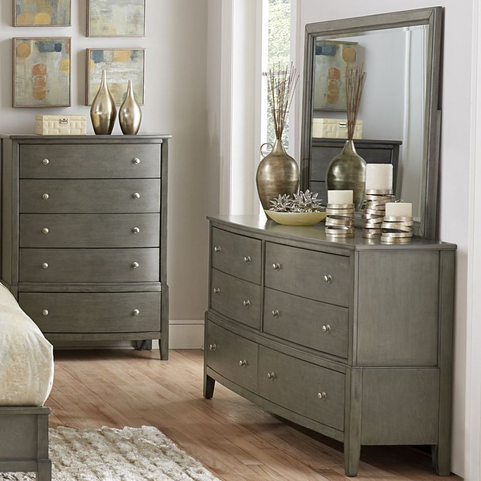 Cotterill Contemporary Dresser And Mirror Set By Homelegance