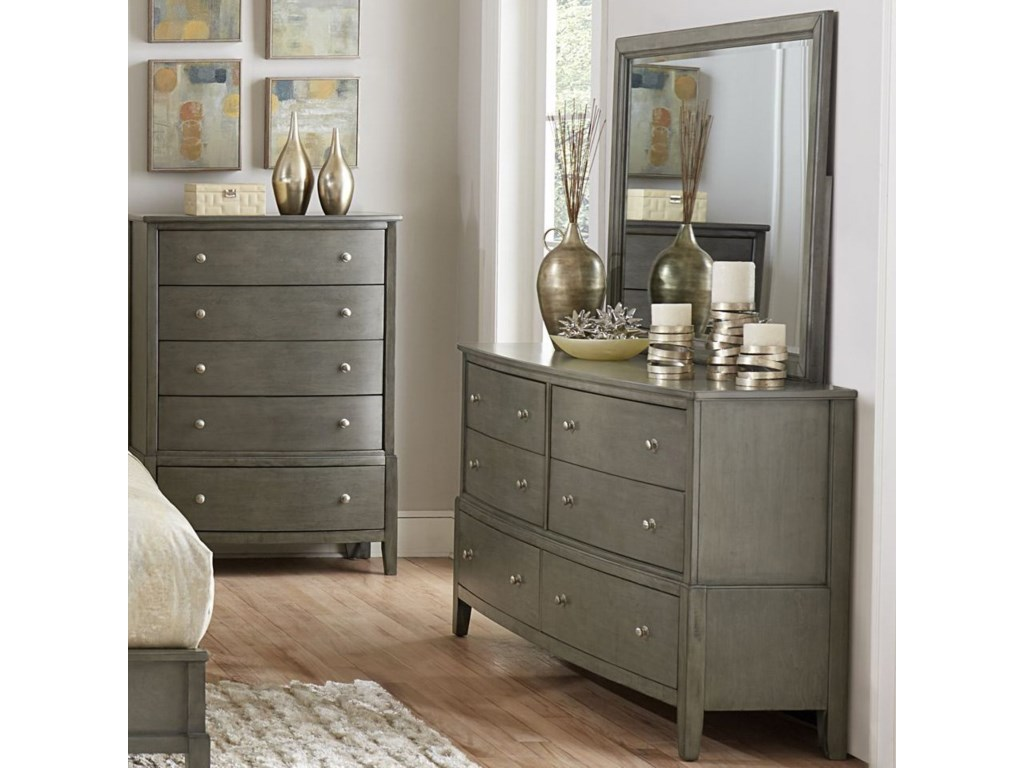 Elegance CotterillDresser and Mirror Set