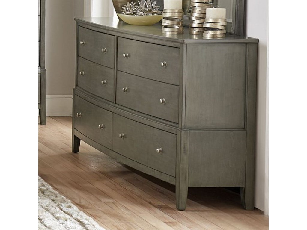 Cotterill Contemporary Dresser With 6 Drawers By Homelegance