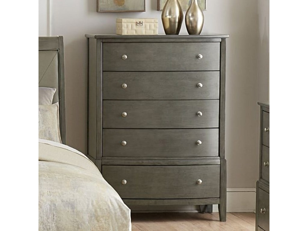 Cotterill Contemporary Chest With 5 Drawers By Homelegance