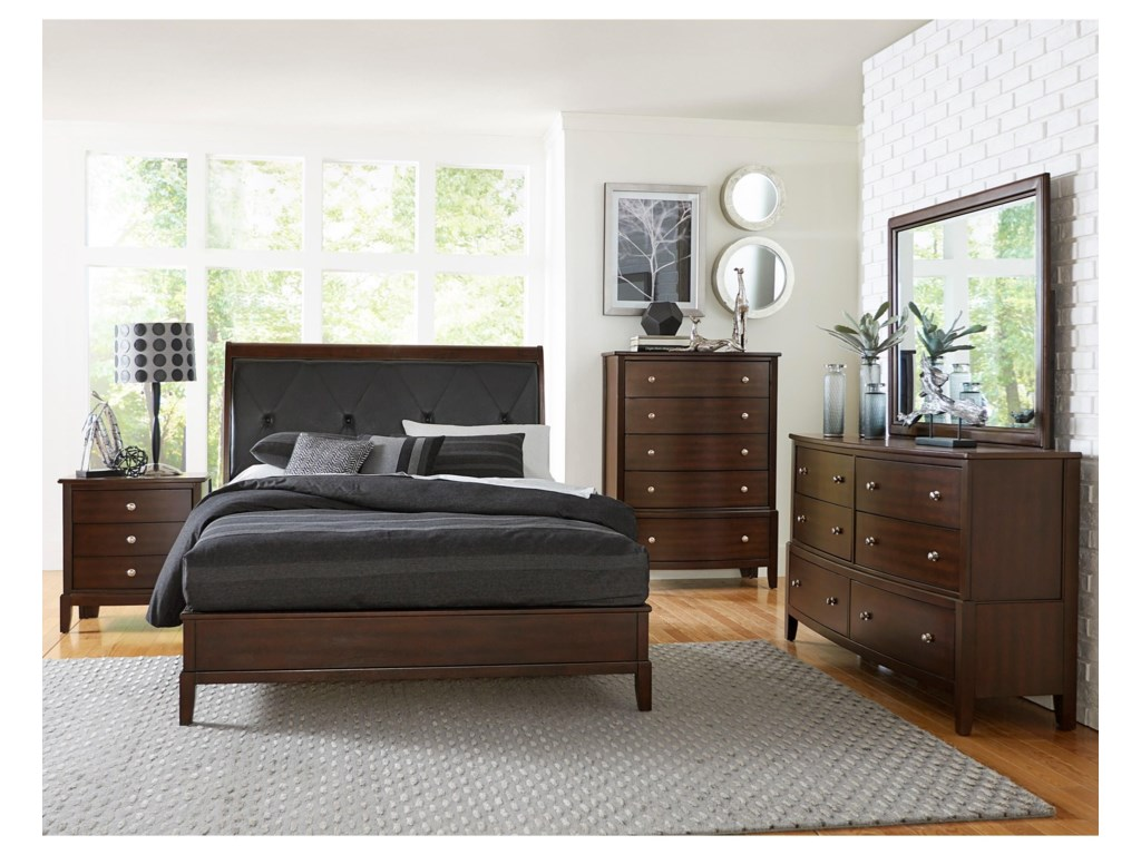 Homelegance CotterillQueen Loft Bed, Dresser, Mirror & Nightstand