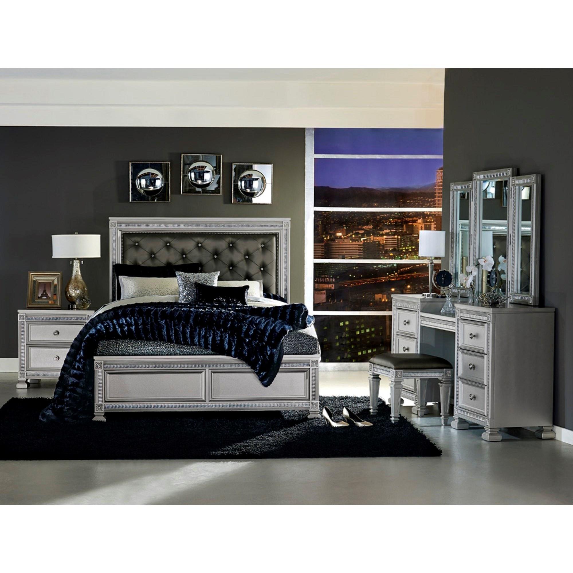 Homelegance 1958 Queen Bedroom Group With Vanity Value City Rh Valuecitynj Com