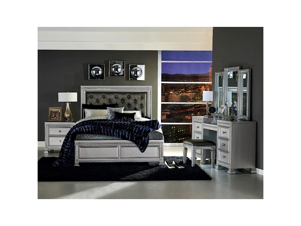Homelegance 1958Queen Bedroom Group with Vanity