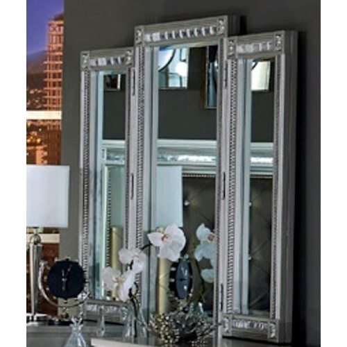 Homelegance 1958 Glam Vanity Mirror with Intricate Inlay