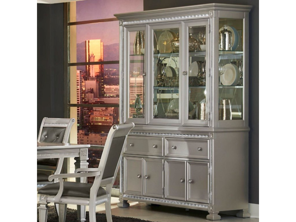 Homelegance 1958Glam Dining Buffet and Hutch