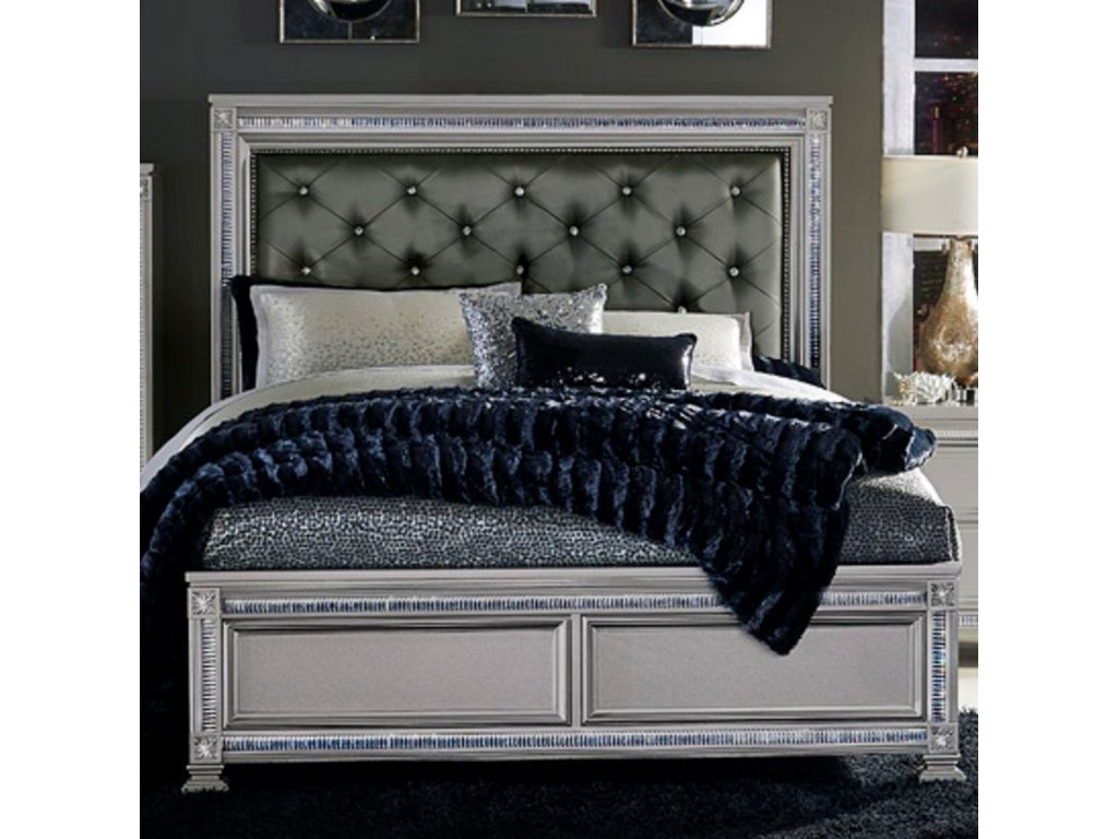 Homelegance 1958Glam Cal King Headboard and Footboard Bed