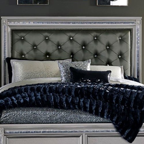 Homelegance (Clackamas Only) 1958 Glam King Headboard with Tufting