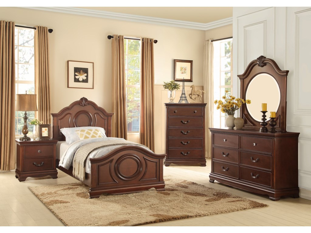 Homelegance 2039CTraditional Dresser and Mirror