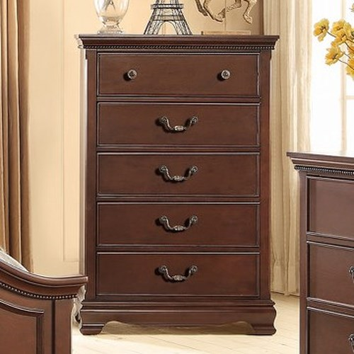 Homelegance 2039C Traditional Chest with 5 Drawers