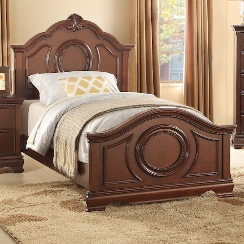 Homelegance 2039C Traditional Twin Bed