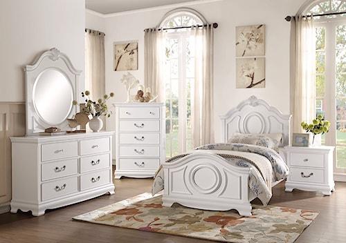Homelegance 2039W Traditional Full Bedroom Group