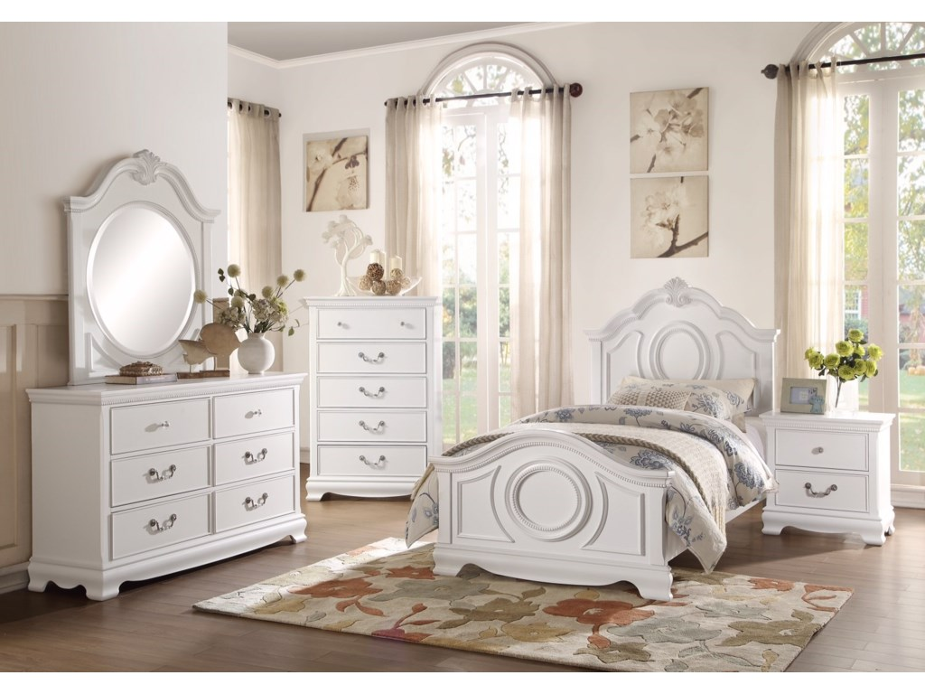 Homelegance 2039WTraditional Twin Bedroom Group