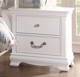 Homelegance (Clackamas Only) 2039W Traditional Night Stand with Two Drawers