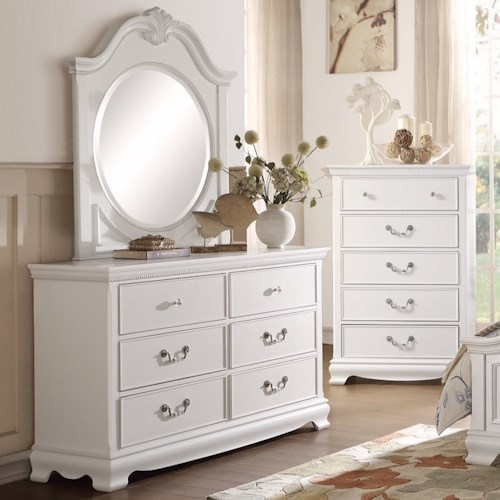 Homelegance 2039W Traditional Dresser and Mirror