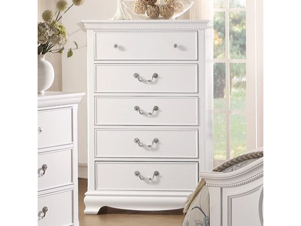 Homelegance 2039WTraditional Chest of Drawers