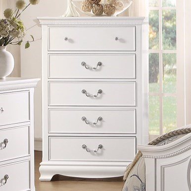 Homelegance 2039W Traditional Chest with 5 Drawers