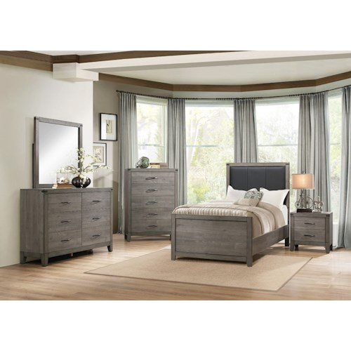 Homelegance (Clackamas Only) 2042 Contemporary Full Bedroom Group