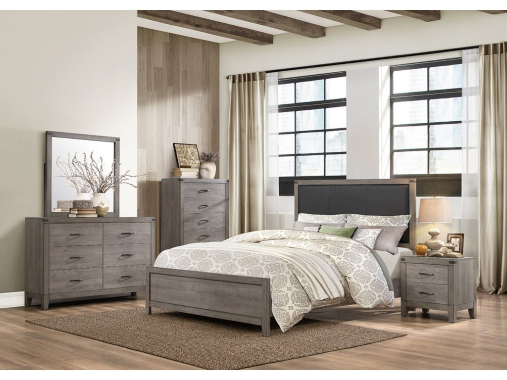 Homelegance 2042Contemporary Queen Bedroom Group