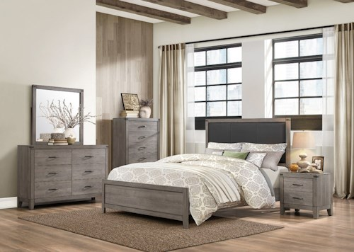 Homelegance (Clackamas Only) 2042 Contemporary Queen Bedroom Group