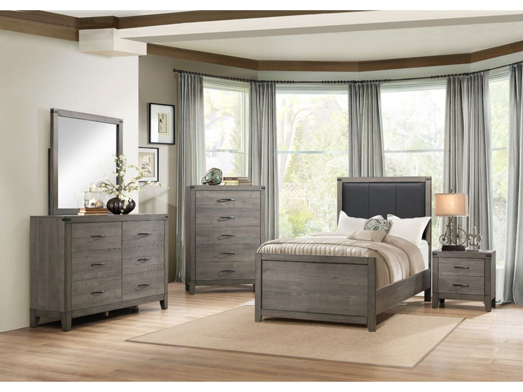 Elegance 2042Contemporary Twin Bedroom Group