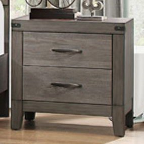 Homelegance (Clackamas Only) 2042 Contemporary 2-Drawer Nightstand with Modern Silhouette