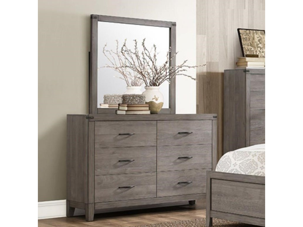 Homelegance 2042Contemporary Dresser and Mirror