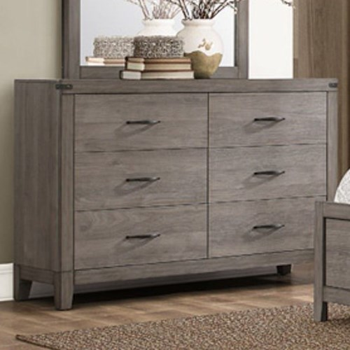 Homelegance 2042 Contemporary 6-Drawer Dresser with Modern Silhouette