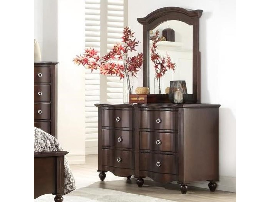 Homelegance 2058CDresser and Mirror Set