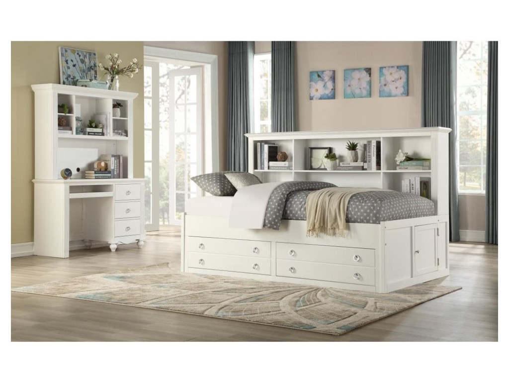 Homelegance Furniture 2058WHFull Bedroom Group