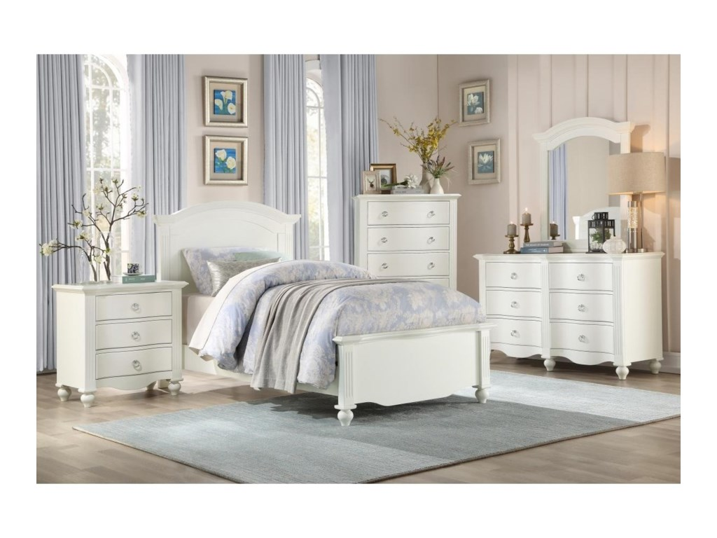 Homelegance 2058WHTwin Bed
