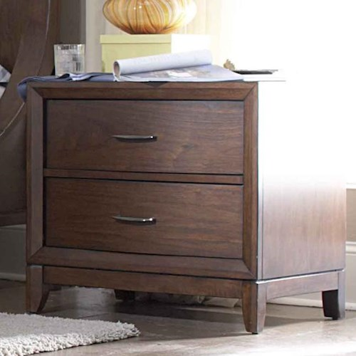 Homelegance 2135 2-Drawer Night Stand with Metal Hardware & Tapered Legs