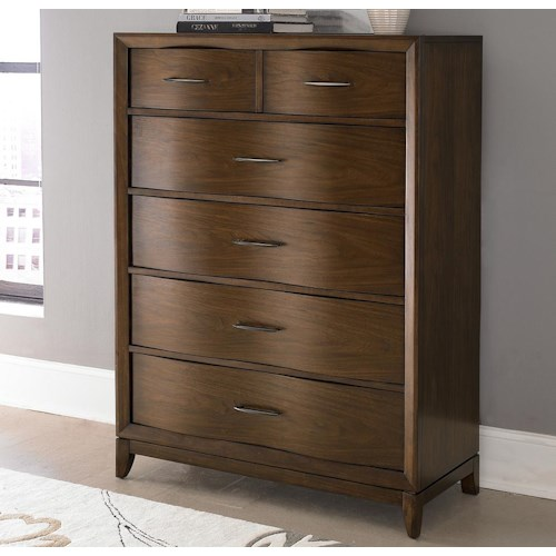 Homelegance 2135 8-Drawer Chest with Waved Front Profile
