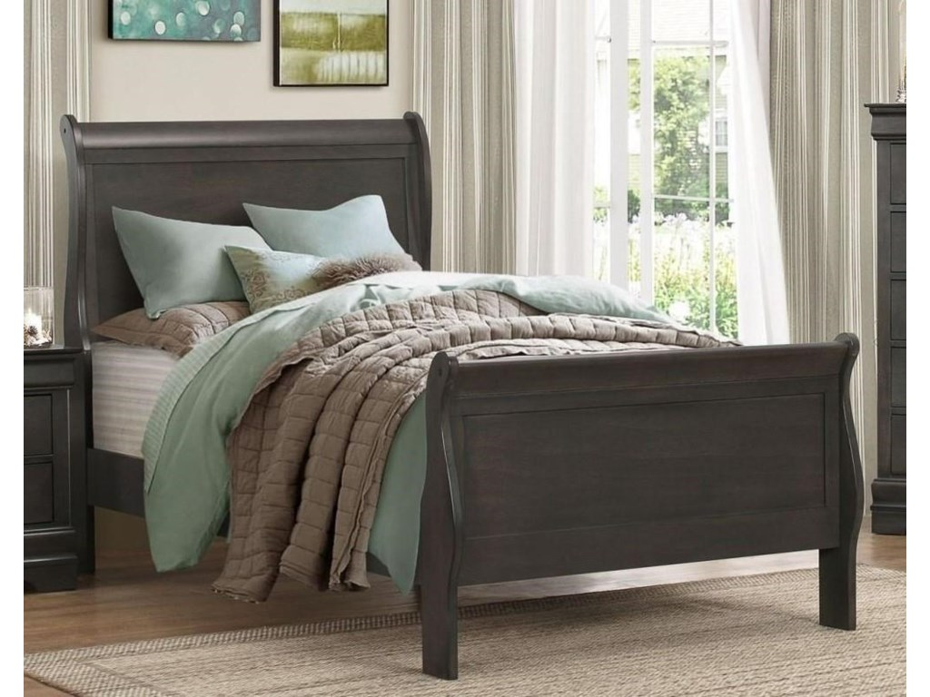 Homelegance MayvilleTwin Gray Bed