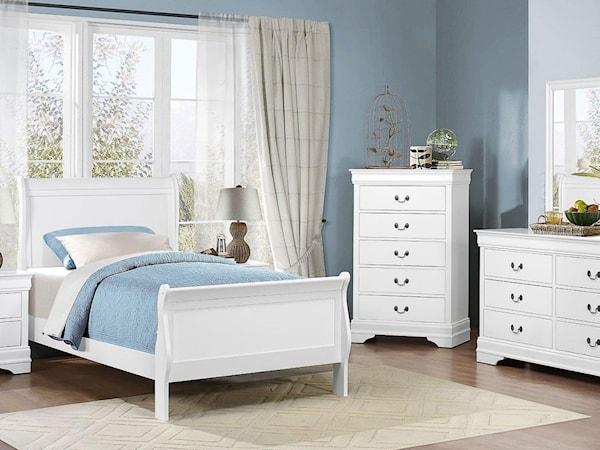Full White Bedroom Group