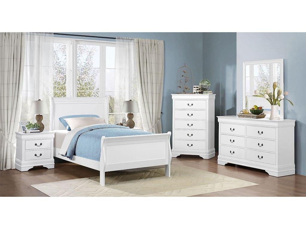 Homelegance MayvilleFull White Bed