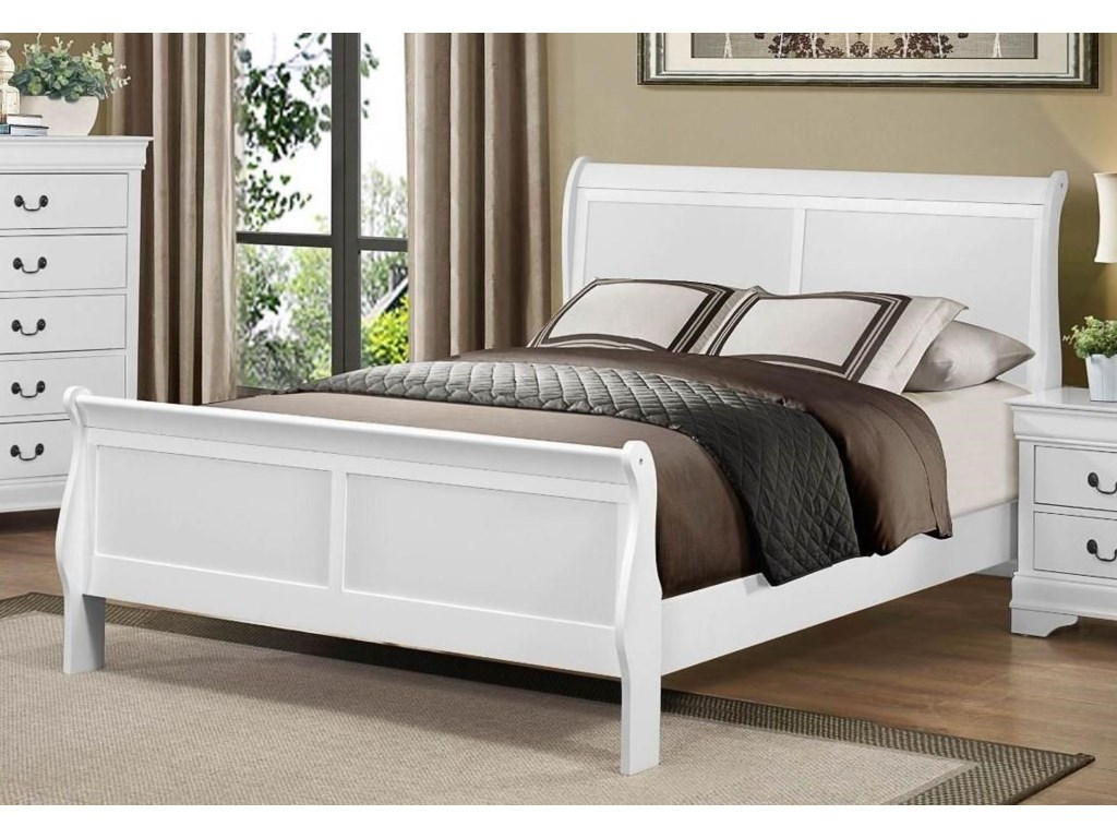 Homelegance MayvilleQueen White Bed